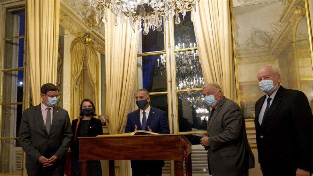 الكاظمي يؤكد من باريس حاجة العراق للدعم والتعاون الدوليين في مواجهة كورونا